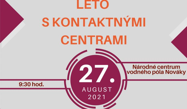 Pozvánka - leto s kontaktnými centrami