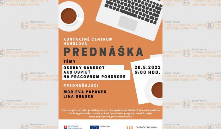 Pozvánka na prednášku - podpora zamestnateľnosti horná Nitra